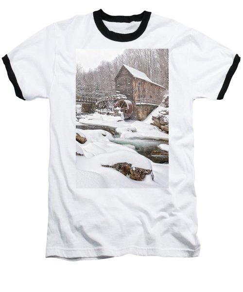 Snowglade Creek Grist Mill Baseball T-Shirt