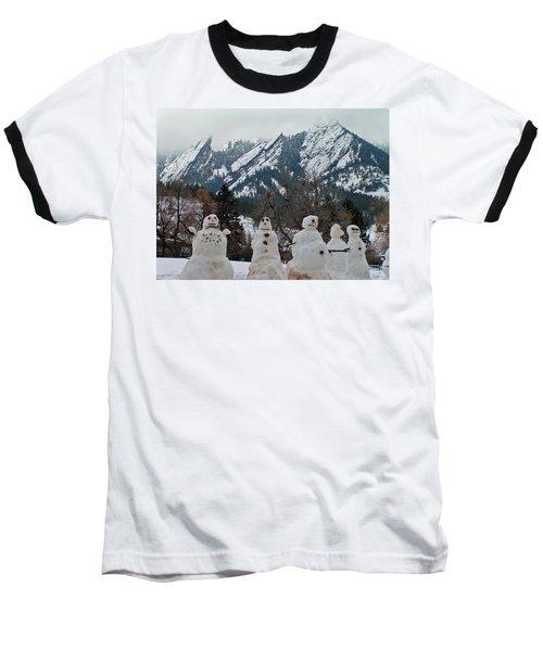 Flatiron Snowmen. Baseball T-Shirt