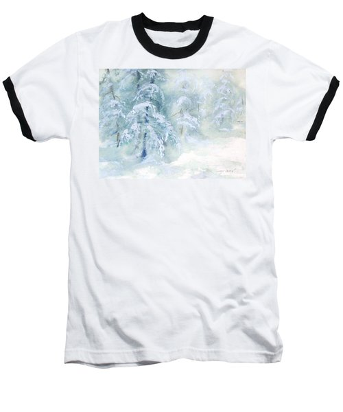 Snowstorm Baseball T-Shirt by Joy Nichols