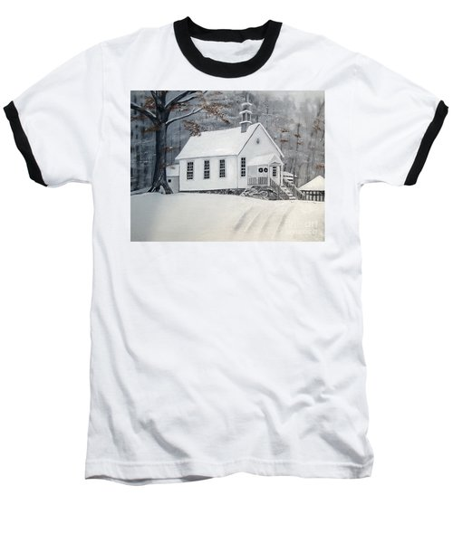Snowy Gates Chapel  -little White Church - Ellijay Baseball T-Shirt