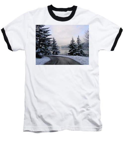 Baseball T-Shirt featuring the photograph Snowy Gorge by Athena Mckinzie