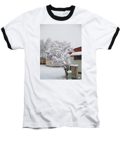Snowy Lilac Baseball T-Shirt