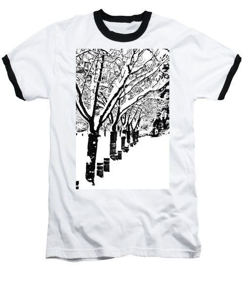 Snowy Walk Baseball T-Shirt