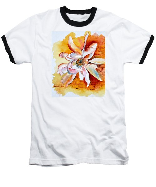 Baseball T-Shirt featuring the painting So The Wind Won't Blow It All Away by Beverley Harper Tinsley