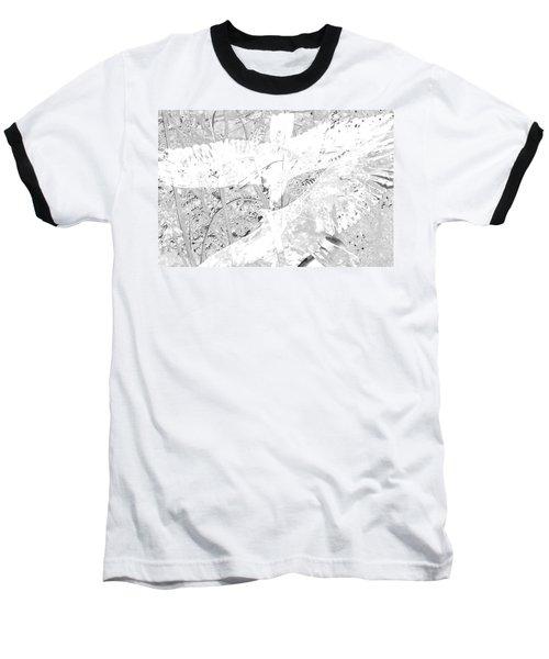 Soaring Hawks Indian Spirit White Gold Baseball T-Shirt by Deprise Brescia