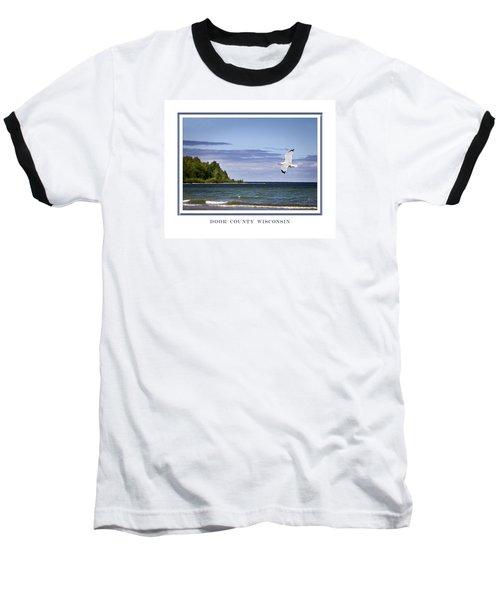 Soaring Over Door County Baseball T-Shirt by Barbara Smith
