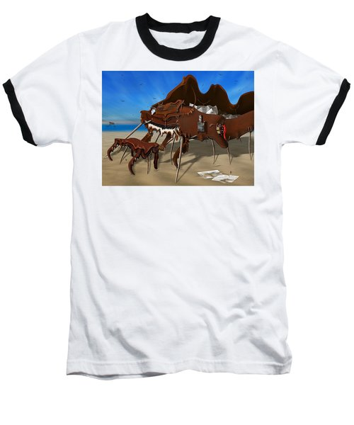 Soft Grand Piano With Camera - Panoramic Baseball T-Shirt