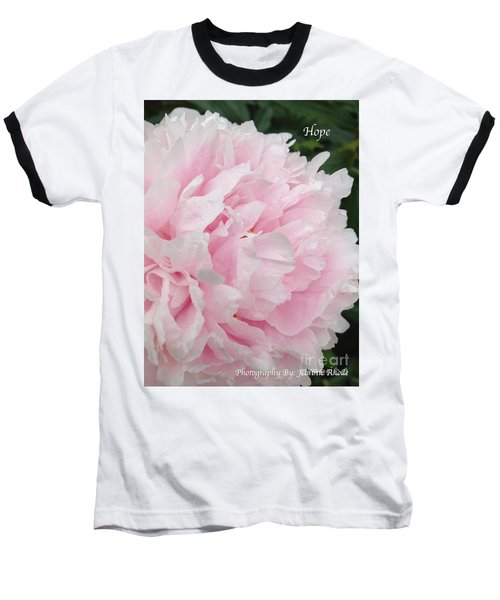 Baseball T-Shirt featuring the digital art Soft Pink Peony by Jeannie Rhode
