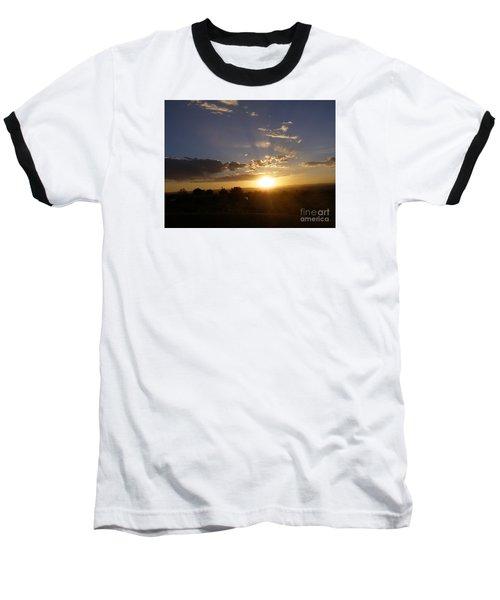 Solar Eclipse Sunset Baseball T-Shirt