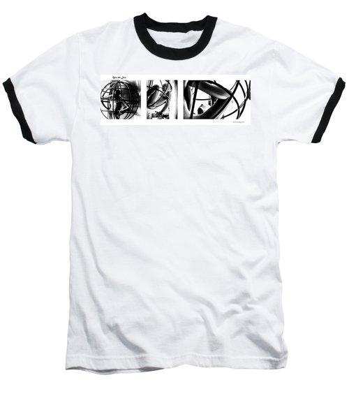 Baseball T-Shirt featuring the photograph Solar Jail Triptych by Stwayne Keubrick