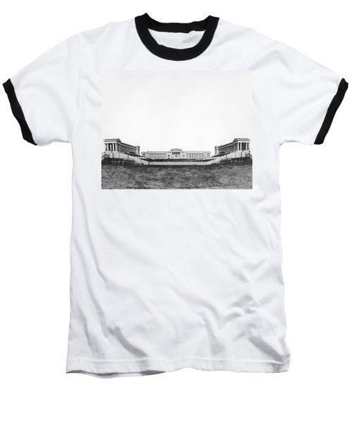 Soldiers' Field And Museum Baseball T-Shirt by Underwood Archives
