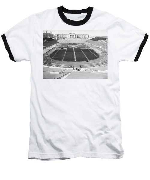 Soldier's Field Boxing Match Baseball T-Shirt by Underwood Archives