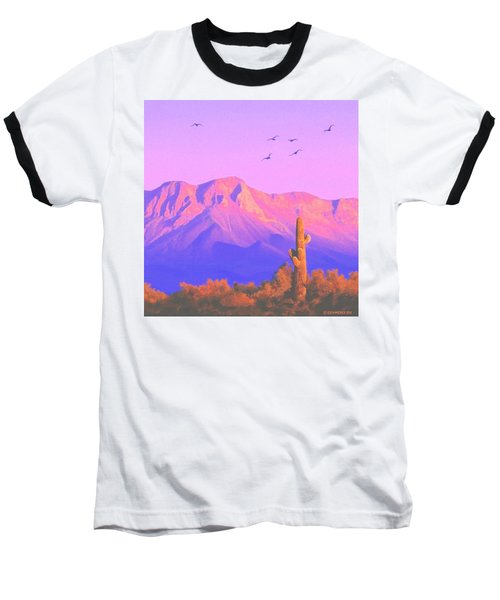 Baseball T-Shirt featuring the painting Solitary Silent Sentinel by Sophia Schmierer