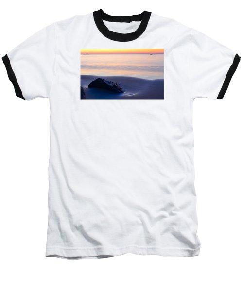 Solitude Singing Beach Baseball T-Shirt by Michael Hubley