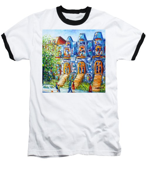 Somewhere In Montreal - Cityscape Baseball T-Shirt