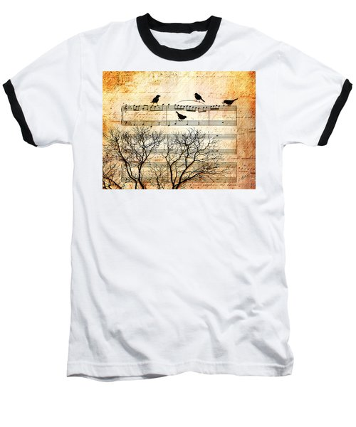 Songbirds Baseball T-Shirt by Gary Bodnar