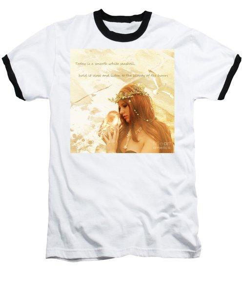 Sounds Of The Sea Baseball T-Shirt by Linda Lees
