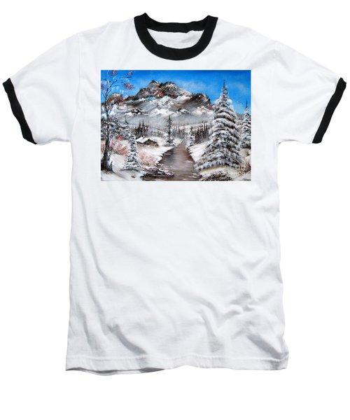 Baseball T-Shirt featuring the painting South Dakota Morning by Patrice Torrillo