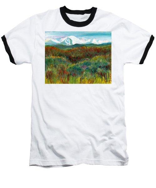 Spanish Peaks Evening Baseball T-Shirt by C Sitton