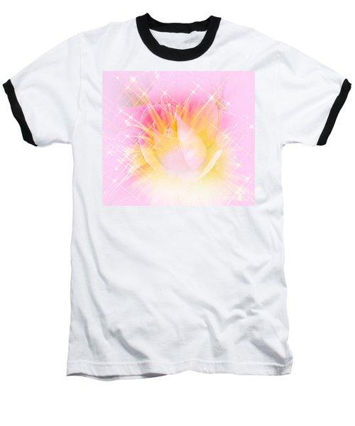 Baseball T-Shirt featuring the photograph Sparkling Starlight Burst Abstract by Judy Palkimas