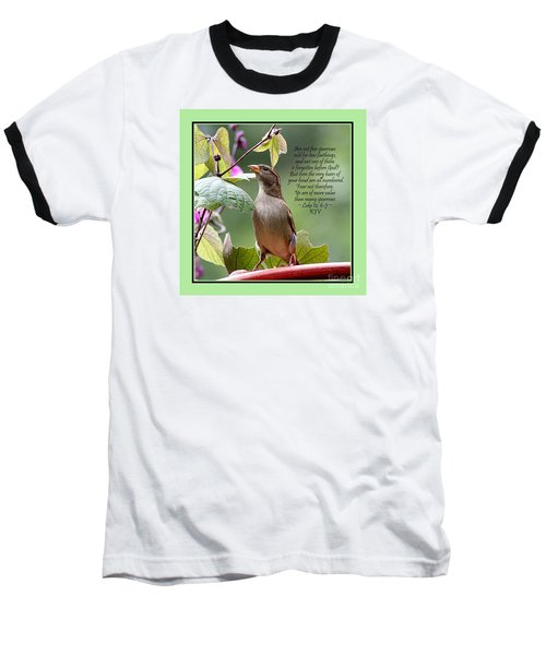 Sparrow Inspiration From The Book Of Luke Baseball T-Shirt