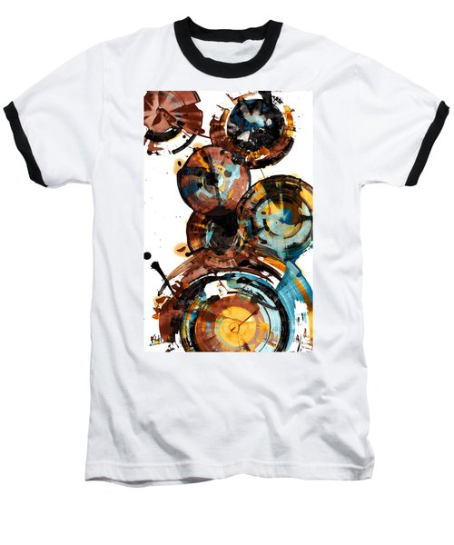 Baseball T-Shirt featuring the painting Spherical Happiness Series - 993.042212 by Kris Haas
