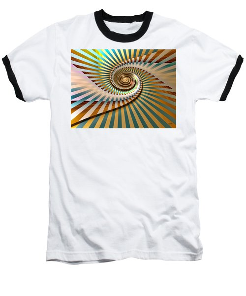 Baseball T-Shirt featuring the digital art Spin by Manny Lorenzo