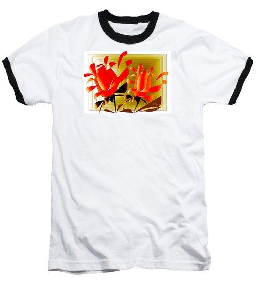Baseball T-Shirt featuring the digital art Spirit Of Roses by Iris Gelbart