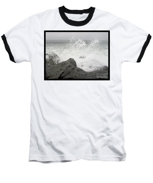 Splash And Gray Baseball T-Shirt by Glenn McCarthy Art and Photography