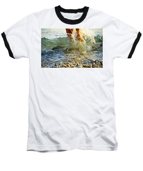 Splish Splash Baseball T-Shirt by Heiko Koehrer-Wagner