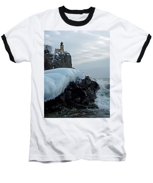 Baseball T-Shirt featuring the photograph Split Rock Lighthouse Winter by James Peterson