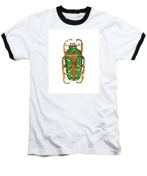 Spotted Flour Beetle Baseball T-Shirt by Cindy Hitchcock