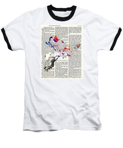 Spray Natura Graffiti Art Print Baseball T-Shirt