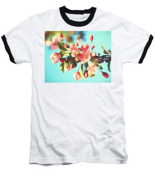 Spring Blossoms In Digital Watercolor Baseball T-Shirt