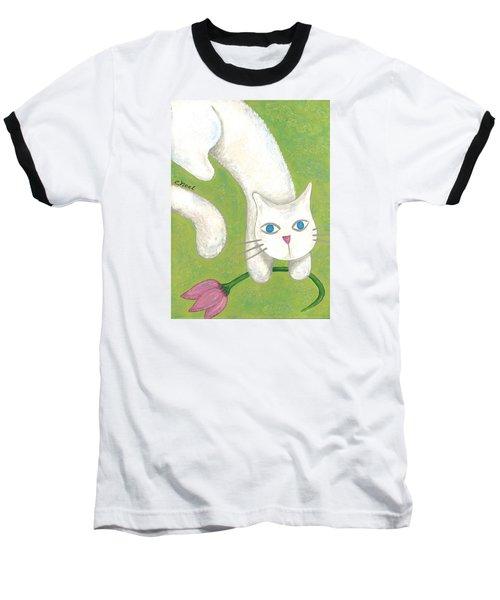 Spring Cat Baseball T-Shirt