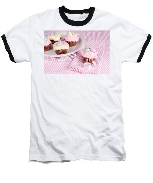 Cupcakes With A Spring Theme Baseball T-Shirt