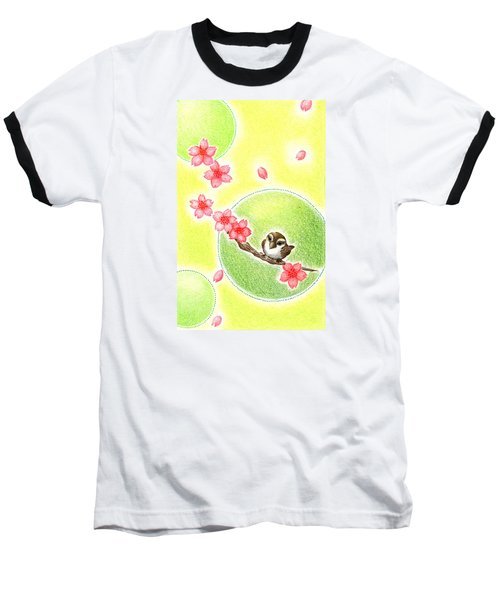 Baseball T-Shirt featuring the drawing Spring by Keiko Katsuta