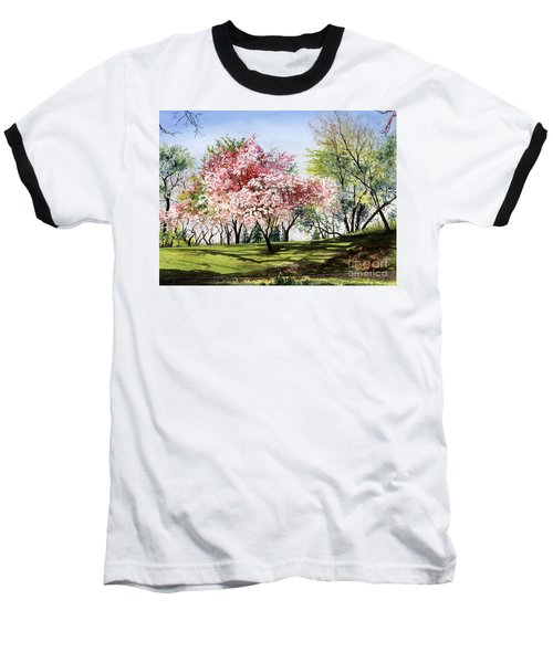 Spring Morning Baseball T-Shirt by Barbara Jewell
