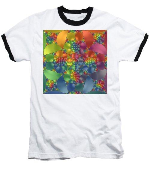 Baseball T-Shirt featuring the digital art Spring Promises Fractal by Judi Suni Hall