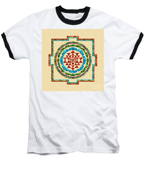 Sri Yantra Baseball T-Shirt by Olga Hamilton