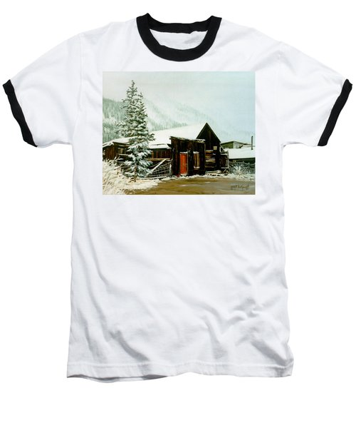 St Elmo Snow Baseball T-Shirt