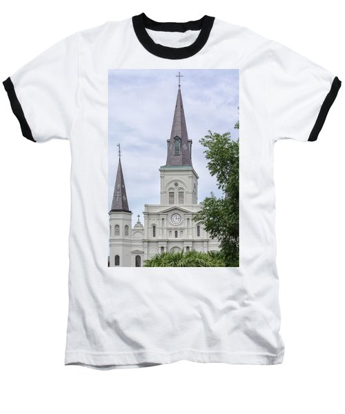 St. Louis Cathedral Through Trees Baseball T-Shirt