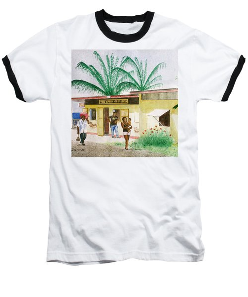St. Lucia Store Baseball T-Shirt by Frank Hunter