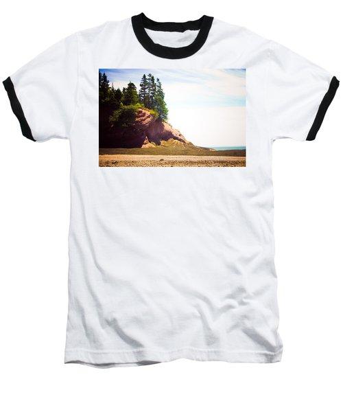 Baseball T-Shirt featuring the photograph St. Martin's Sea Caves by Sara Frank