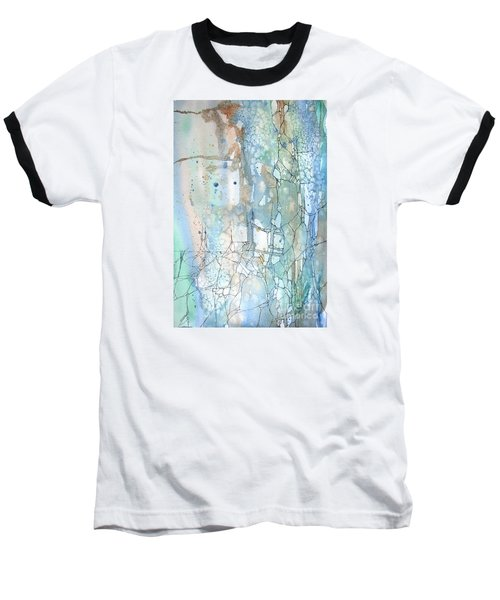 Baseball T-Shirt featuring the painting Stained Cracks by Rebecca Davis