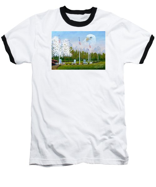 Standing Guard Over Veterans Park Baseball T-Shirt