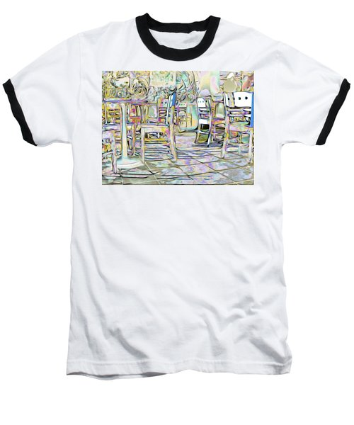 Baseball T-Shirt featuring the digital art Starbucks After Hours by Mark Greenberg