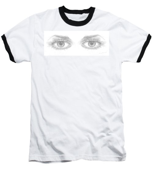 Baseball T-Shirt featuring the drawing Stare by Terry Frederick