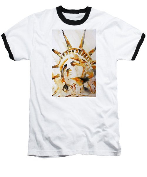 Statue Of Liberty Closeup Baseball T-Shirt by J- J- Espinoza