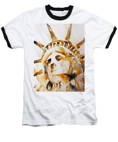 Statue Of Liberty Closeup Baseball T-Shirt